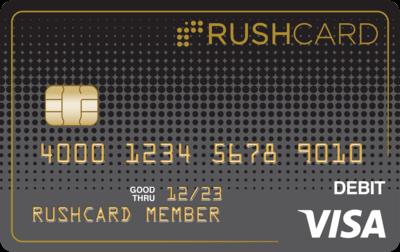 midnightrushcard carbonrushcard glossrushcard rushcard24k sequinkls - Gold Visa Prepaid Card
